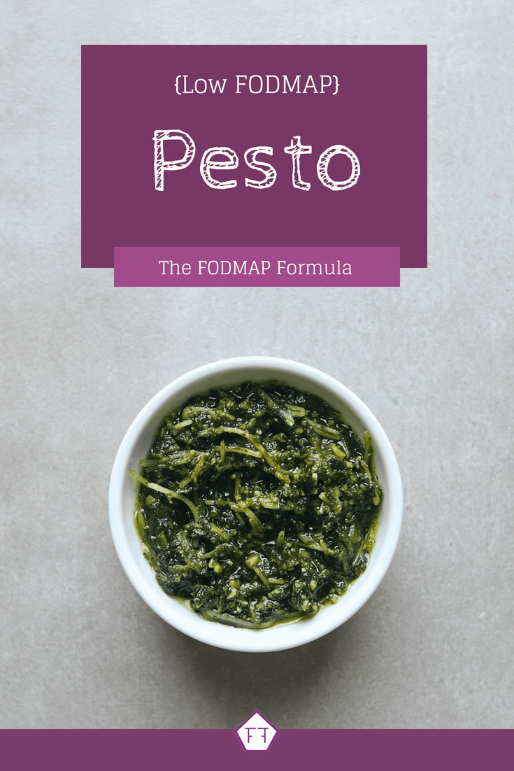 Low FODMAP Pesto in small bowl