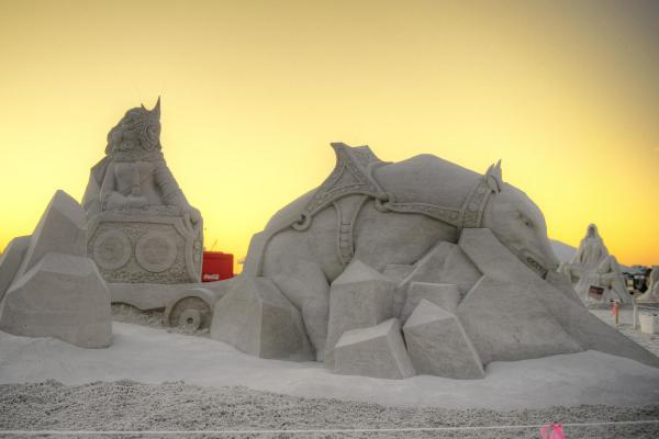 Incredible Sandcastle Art And Competitions In