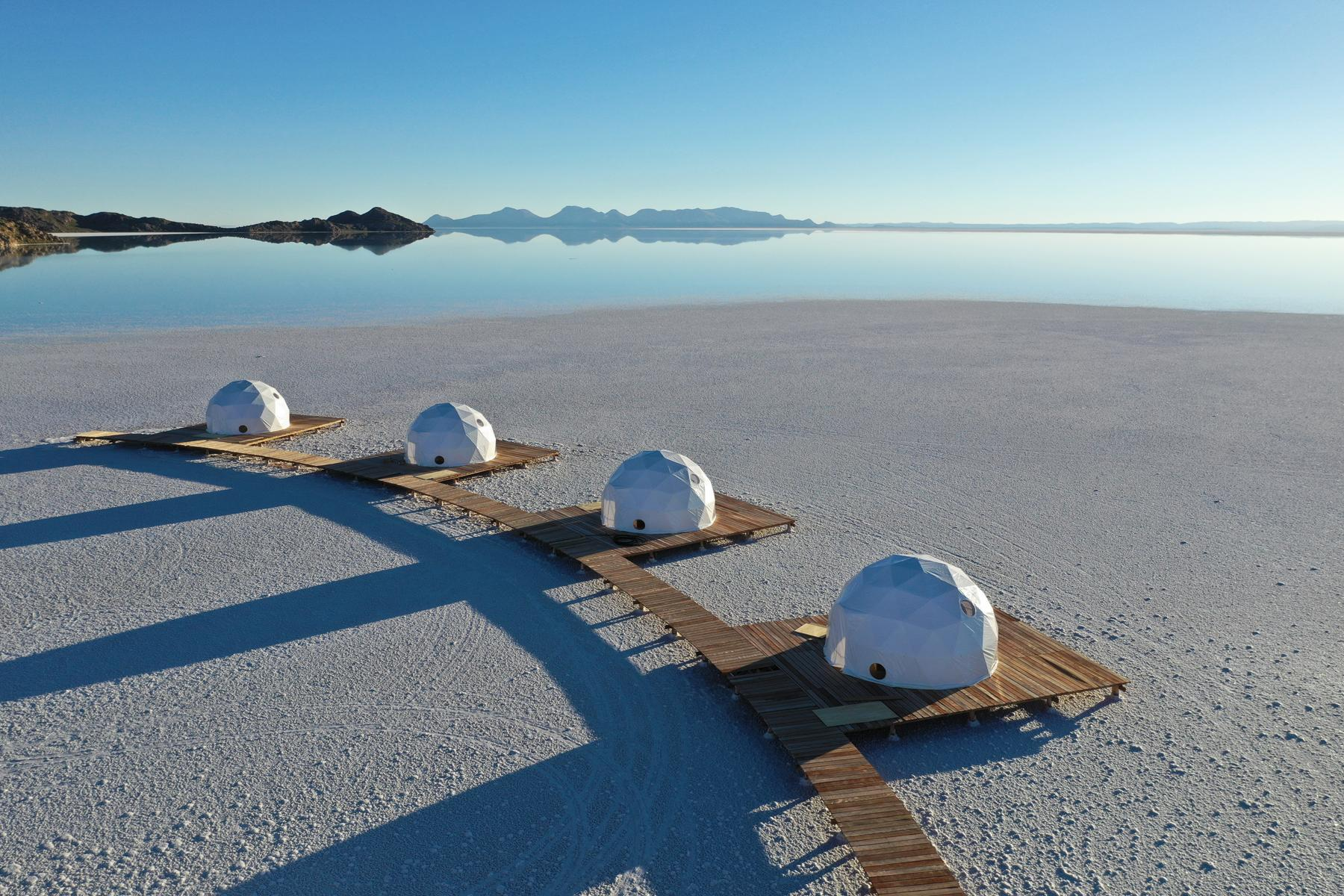 It's the pick for homemade pickles. Glamp on the Bolivian Salt Flats at Kachi Lodge