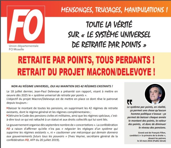 Aperçu du 4 pages de l'UD FO 57