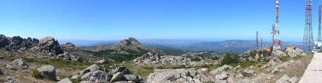 Aussicht vom Gipfel Monte Limbara