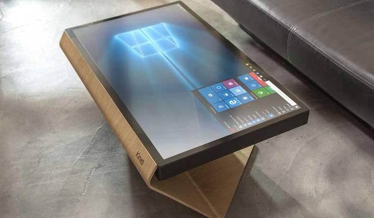 La Table Kineti Ein Tisch mit integriertem RiesenDisplay und Windows 10 frderland