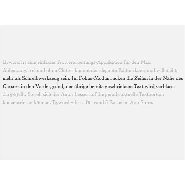 Byword: Simple Textverarbeitung in schön: förderland