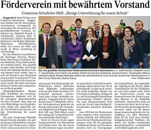 Deggendorfer Zeitung 20.02.2017 - Jahreshauptversammlung 2017