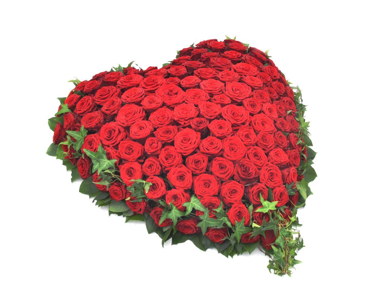 Sarggesteck rote Rosen weie Lilien  Ftschl Blumen Wien