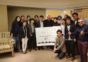 Japan Biodesign Fellows from Osaka, Tokyo, and Tohuko Universities visited the Fogarty Institute