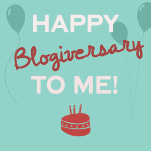 Happy blogiversary to me!
