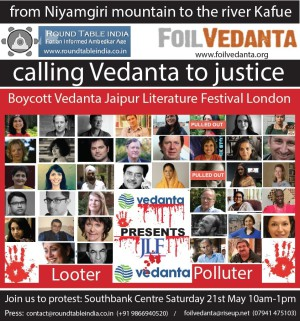 JLF flyer with pulled out authors