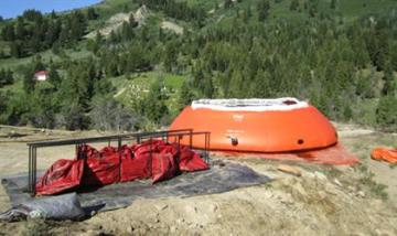 6000 GALLON FOREST SERVICE TANK IN USE PICTURES COURTESY OF PORTAL RESCUE