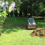 Drainage Project in Bryn Mawr-Back yard BEFORE