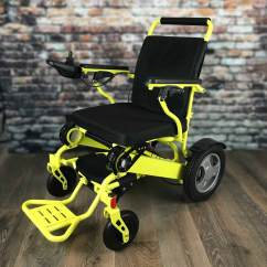 Yellow Wheelchair Side Chairs With Casters Heavy Duty Fold Go Electric
