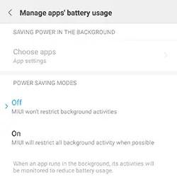 Menonaktifkan Battery Saver