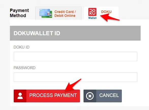 isi ulang bolt dengan doku wallet