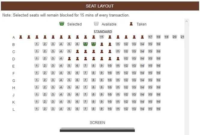 memilih tempat duduk bioskop cinemaxx