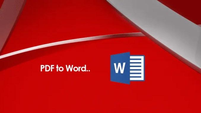 Cara Mengubah / Convert PDF Ke Word, Excel, PowerPoint Dan Gambar