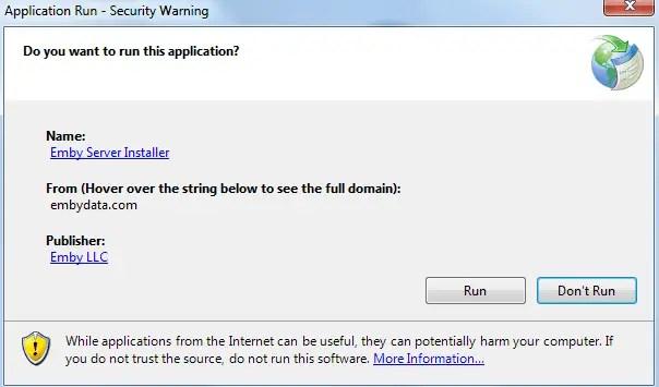 cara instal emby server