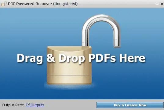 Membuka Password Dengan PDF Password Remover