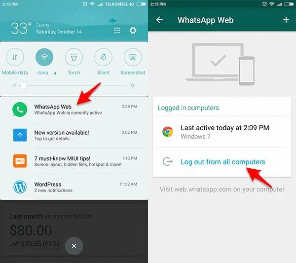 whatsapp web pada android