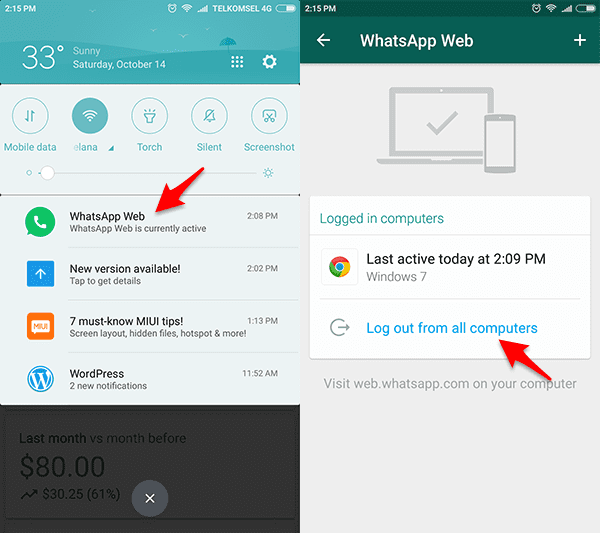 whatsapp web pada android