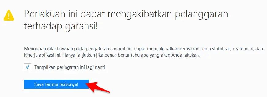 Cara Menonaktifkan/Disable Javascript di Mozilla Firefox