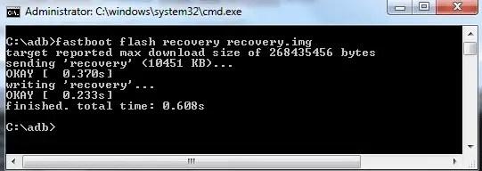 mengembalikan stock recovery dengan mode fastboot
