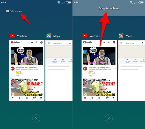 Cara Mengaktifkan Split Screen / Dual Window MIUI 9