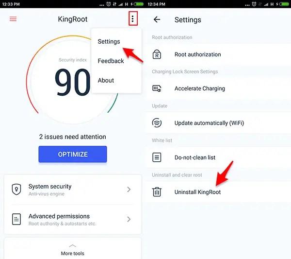Cara Unroot Android Pengguna KingRoot