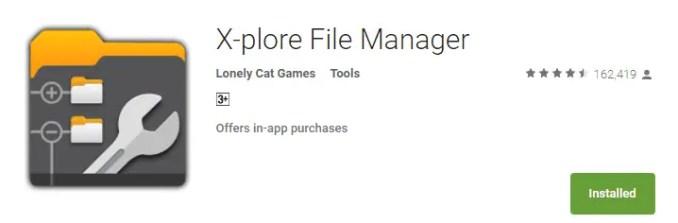 X-plorer Manager