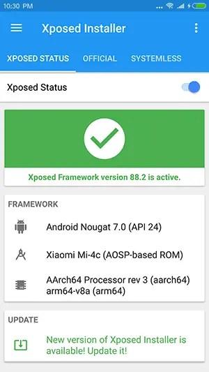 Cara Pasang (Install) XPosed Framework Mi4C ROM MIUI 9 Nougat