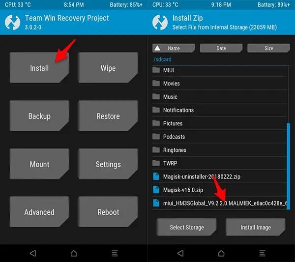 Cara Update MIUI 9 Global Menggunakan TWRP Recovery