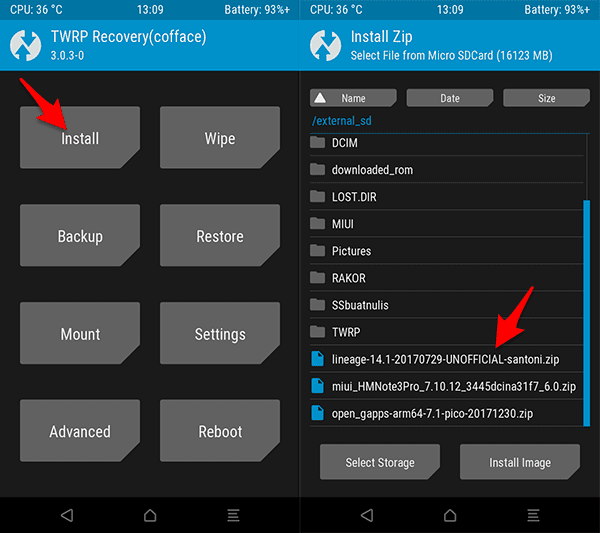 Cara Install Custom ROM Lineage OS 14.1 Nougat Redmi 4X (Santoni)