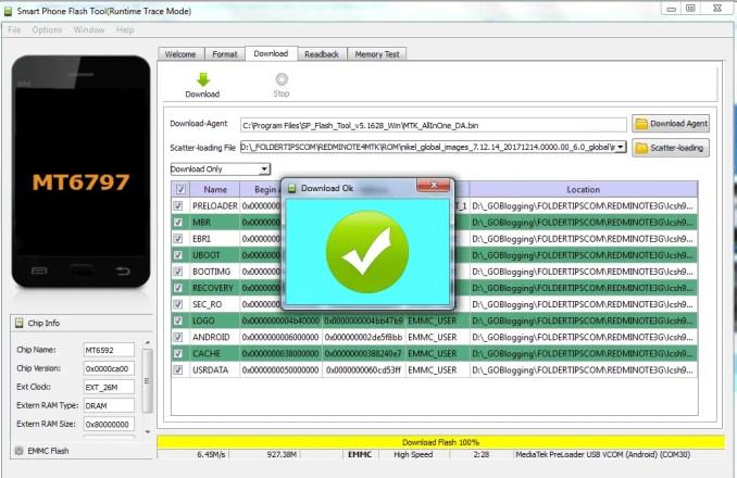Mengatasi Bootloop Redmi Note 4/4X MTK (Nikel) Dengan SP Flash Tools