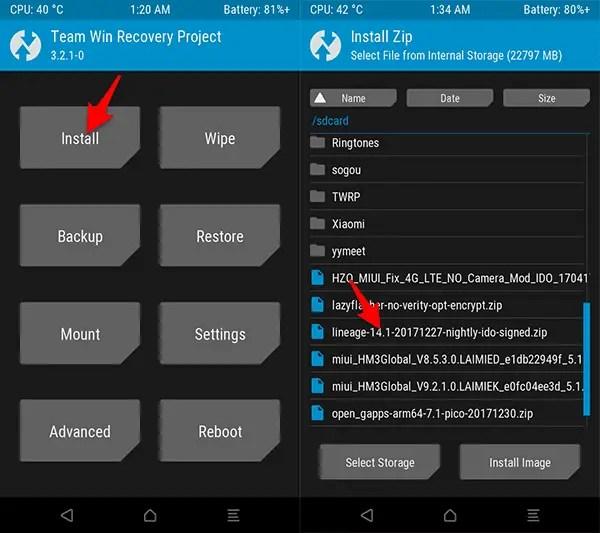 Cara Pasang ROM Nougat LineAgeOS 14.1 Redmi 3/3 Pro