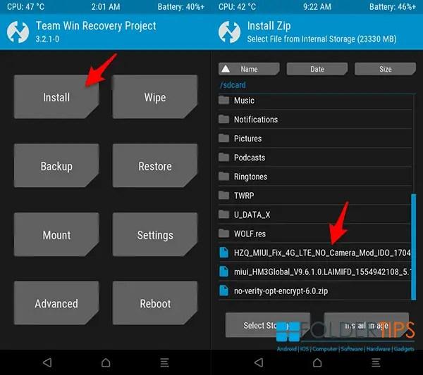 Cara Pasang TWRP Official, Fix 4G dan ROOT Redmi 3 / 3 Pro (Ido) UBL