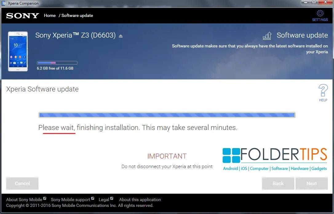 Cara Update ROM Nougat Sony Xperia via Xperia Companion