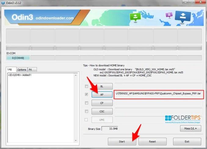 Cara Bypass Akun Google (FRP) via Mode Odin dengan ODIN Flasher