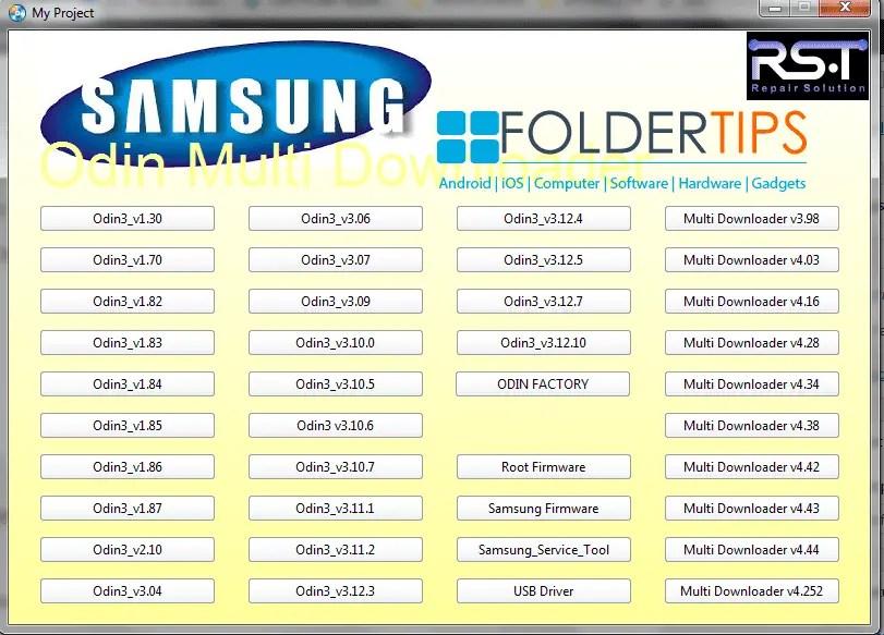 Cara Install / Flashing Firmware Semua HP Samsung Via ODIN Flasher