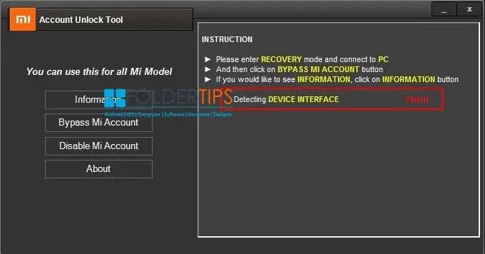 Cara Bypass Akun Mi Cloud Xiaomi dengan Mi Account Unlock Tool
