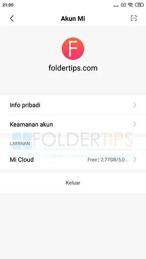 Cara Hapus Akun Mi Cloud Xiaomi