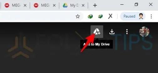 Memindahkan Berkas ke My Drive