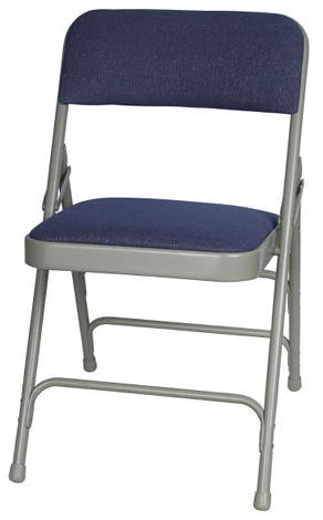 folding chairs outdoor use big and tall dining room cheap metal padded chair blue fabric