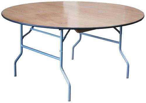 66 round wood folding table