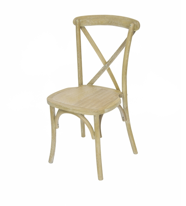 WHOLESALE NATURAL X Back Banquet Chair  Call us for the