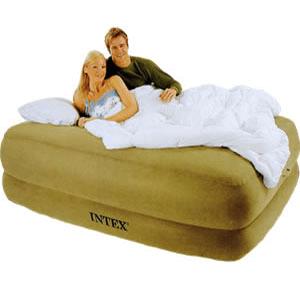 Intex Raised Foam Top Air Bed W Built In Pump 6695 Kdyfs