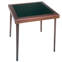 """Cosco 32"""" x 32"""" Square Wooden Folding Card Table w/Vinyl ..."""