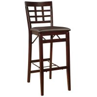 "Linon Triena 30"" Window Pane Wood Folding Bar Stool"