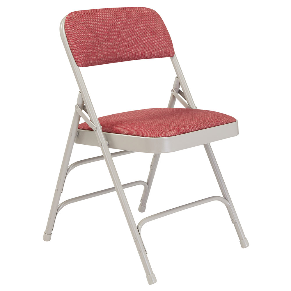 cloth padded folding chairs portable lift chair national public seating 2300 series premium triple brace fabric set of 4