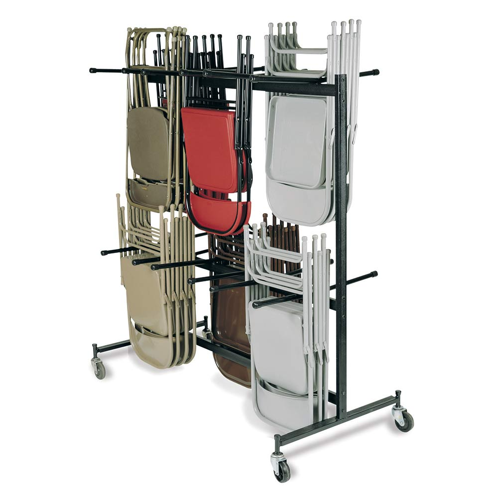 folding chair dolly behind the ombre national public seating hanging truck trolley model 84 double tier nps