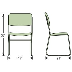 Stackable Padded Chairs Chair Into Twin Bed National Public Seating 8600 Series Lightweight Fabric Dimensions For Stacking