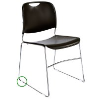 National Public Seating GL85 Stacking Chair Floor Glide ...